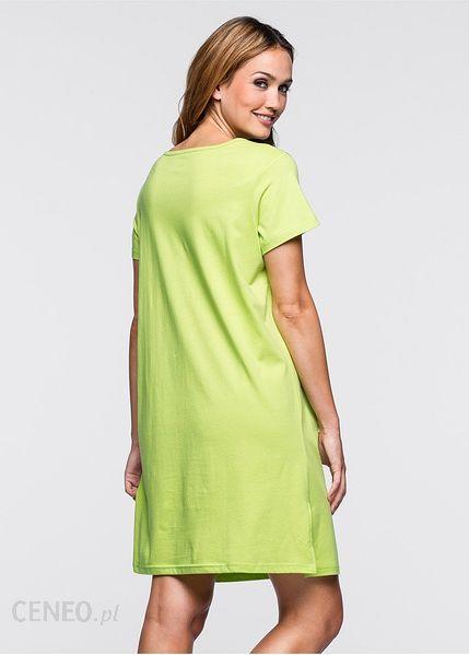 Bonprix Koszula nocna zielone jabłuszko 960893_11653 Ceny  F6u2M