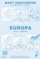 Mapa Europy Konturowa Oferty 2019 Ceneopl
