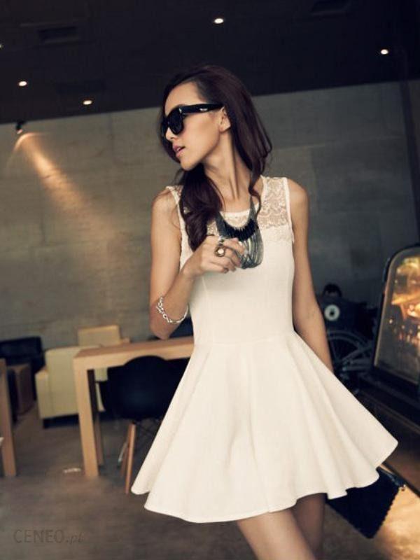 1161128852 Biała sukienka damska z koronką Japan Style S4031 - Ceny i opinie ...