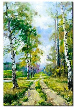 ac3a0e78135a95 Obraz na płótnie OML144_13 - Droga na skraju lasu - Opinie i ...
