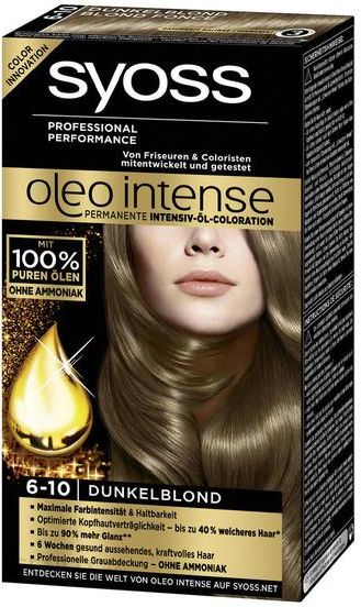 Syoss Oleo Intense Farba Do Wlosow 6 10 Ciemny Blond Opinie I Ceny