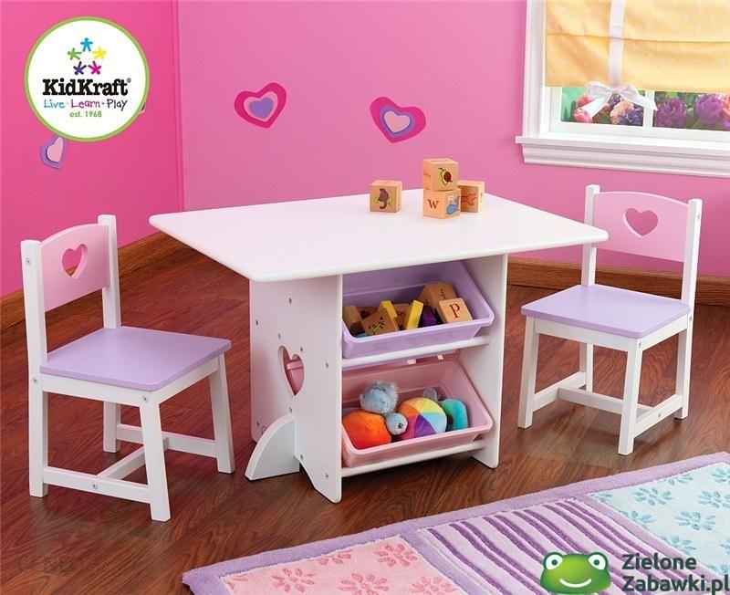 Serduszko Stolik Dla Dzieci I Dwa Krzesełka Kidkraft Meble Do Pokoju Dziecięcego