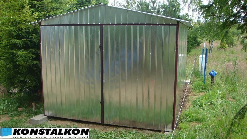 Konstalkon Garaż Blaszany 3x5 Z Dachem Dwuspadowym Opinie I Ceny