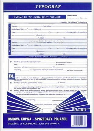 Typograf Druk Umowa Kupna Sprzedazy Pojazdu 01169 Ceny I Opinie Ceneo Pl