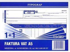 Typograf Druk Faktura Vat Netto A5 11 1124 Ceny I Opinie Ceneopl