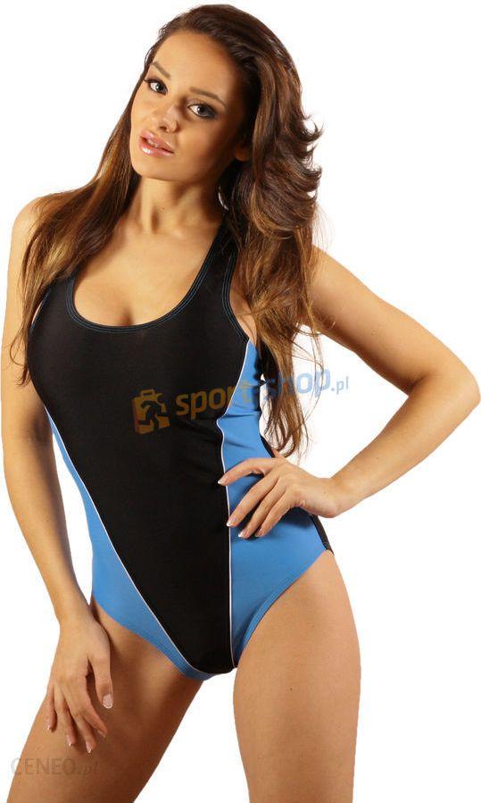 4058b08fb070cb Stanteks kostium kąpielowy damski SK0034 (czarno-niebieski) / - zdjęcie 1