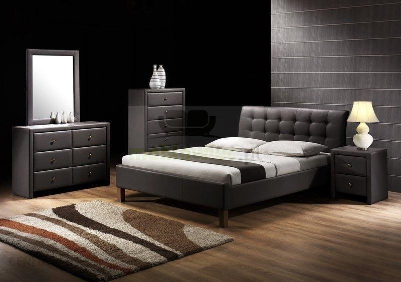 Halmar łóżko Do Sypialni Samara 160x200 Czarny