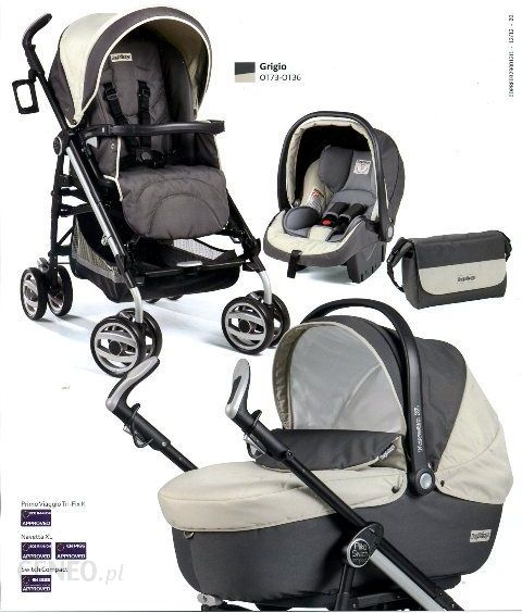 Peg Perego Switch Four Modular Grigio Gleboko Spacerowy Fotelik