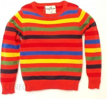 2abecd3c106028 US FREE STAR Sweter w kolorowe paski - Ceny i opinie - Ceneo.pl
