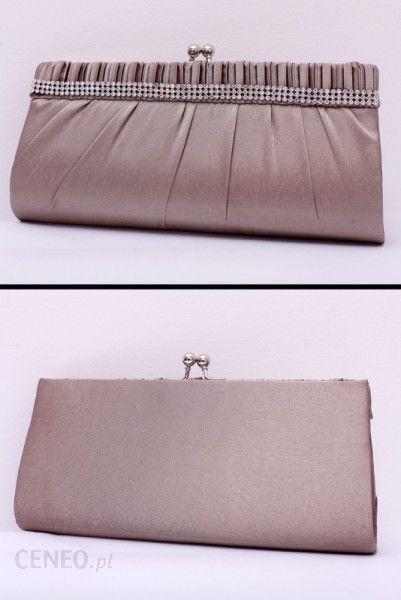 511dd33701813 Pink Boom Wizytowa torebka ze srebrnymi cyrkoniami złocisty beż - zdjęcie 1