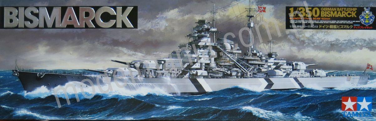 Tamiya Bismarck Niemiecki Pancernik (78013)
