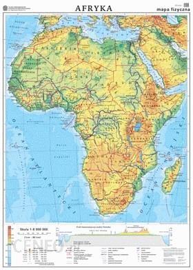 Mapa Scienna Afryka Mapa Ogolnogeograficzna Mapa Do Cwiczen Mapa