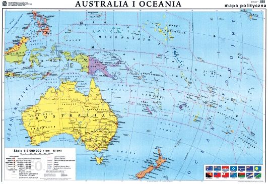 Mapa Scienna Australia Mapa Polityczna Konturowa Mapa Scienna