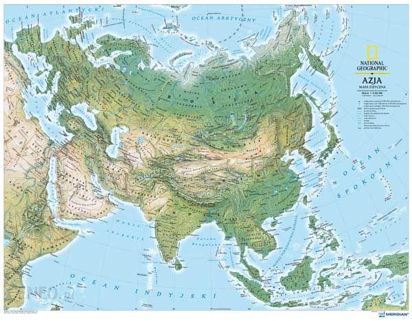 Mapa Scienna Azja Mapa Fizyczna Mapa Scienna Ceny I Opinie
