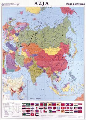 Mapa Scienna Azja Mapa Polityczna Konturowa Mapa Scienna Ceny