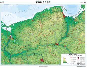 Mapa Scienna Pomorze Mapa Regionalna Ogolnogeograficzna
