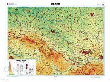 Mapa Scienna Slask Mapa Regionalna Ogolnogeograficzna