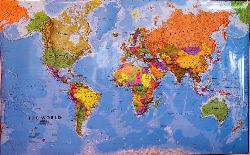 Mapa Scienna Swiat Mapa Scienna Polityczna Swiata Ceny I