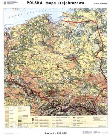 Mapa Scienna Polska Mapa Krajobrazowa Konturowa Mapa Scienna