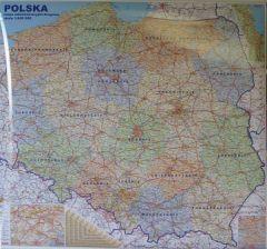 Mapa Scienna Polska Mapa Scienna Polski Administracyjno Drogowa 1