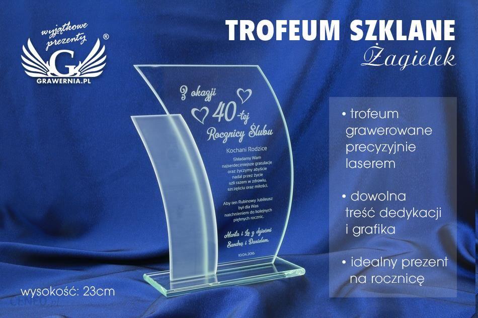 9656d71ce3f281 Grawernia Trofeum Szklane - Żagielek - Rocznica Ślubu - Ceny i ...