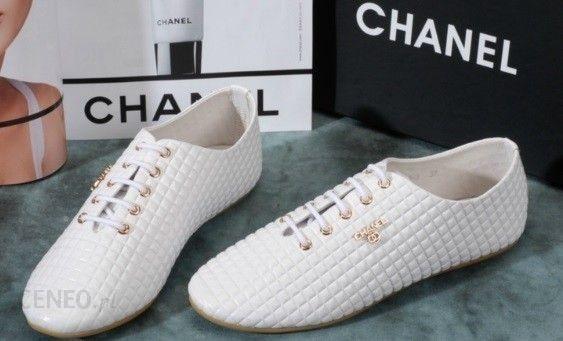 97e8c6a305f56 Coco Chanel Białe Piękne Buty sportowe - Ceny i opinie - Ceneo.pl