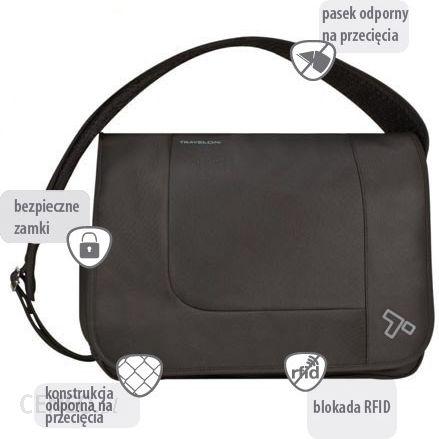 23c7060147b66 Travelon Torba antykradzieżowa bezpieczna Anti-Theft Urban E/W Messenger  Bag 42583 - zdjęcie