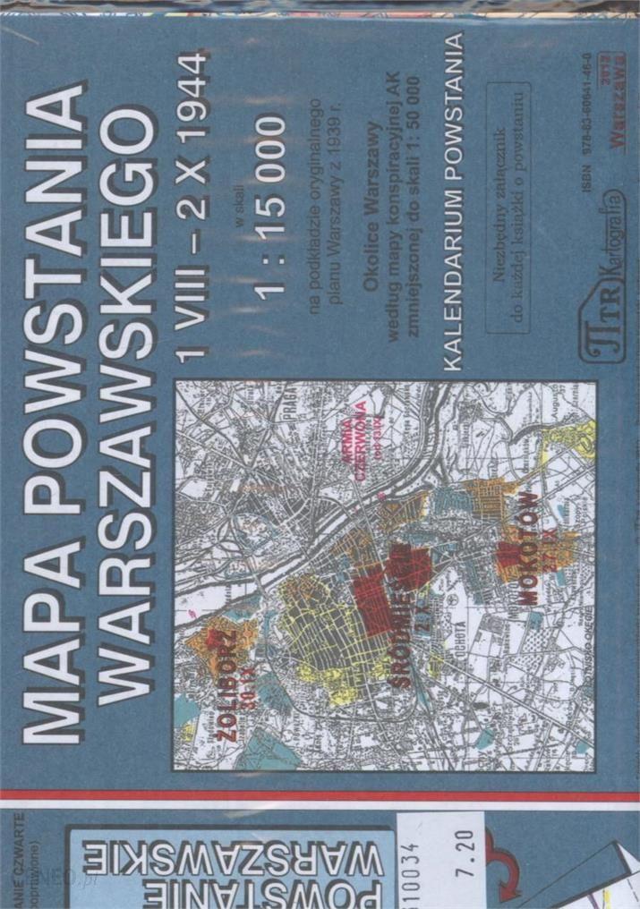 Mapa Powstania Warszawskiego 1 Viii 2 X 1944 Ceny I Opinie