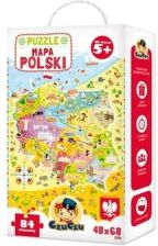 Czuczu Bright Junior Media Mapa Polski Puzzle