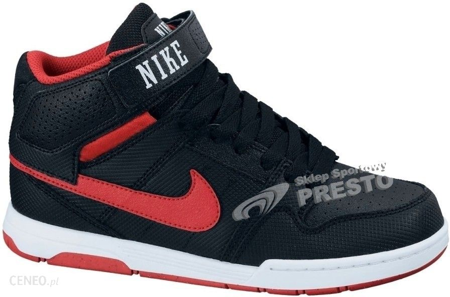 brand new d1883 ebafc Buty deskorolkowe młodzieżowe Mogan Mid 2 Jr Nike SB - czarno-czerwony -  zdjęcie 1