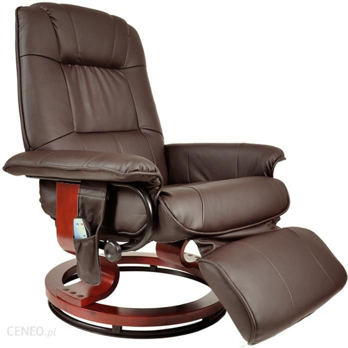 Regoline Fotel Masujący Wypoczynkowy Biurowy Masaż Grzanie Brązowy