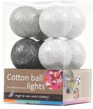 Cotton Ball Lights Silver Grey 20 Kul