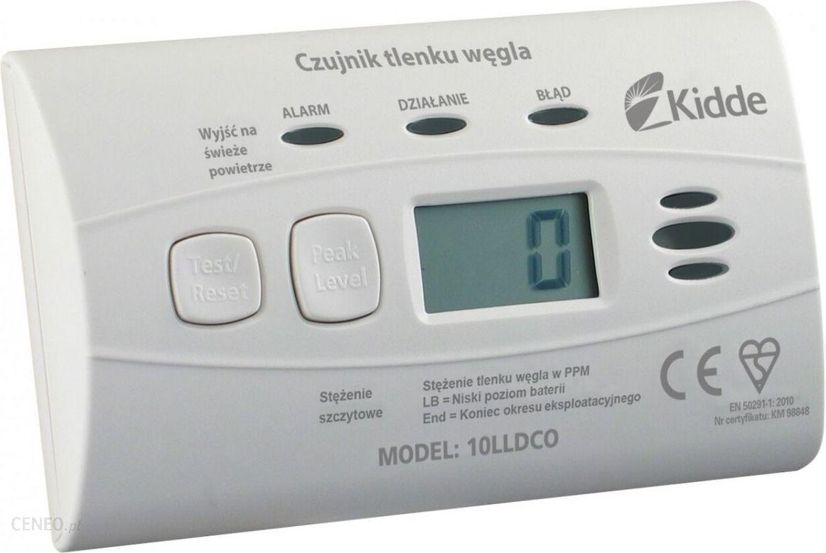 Kidde Czujnik czadu tlenku węgla z wyświetlaczem LCD 10LLDCO