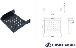 Linkbasic fixed shelf for 800mm rack cabinets (CFF80-1.5-A)