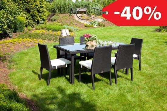 Zestaw Mebli Ogrodowych Oltre Stół Allegro 160 6x Krzesło Alba Modern Czarny Ceny I Opinie Ceneopl