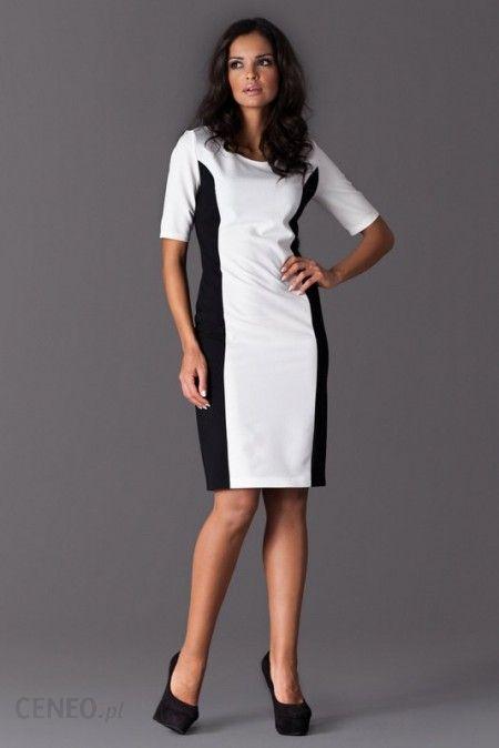 5ffd6f0d99 Figl Ołówkowa sukienka wyszczuplająca M130 biała - Ceny i opinie ...