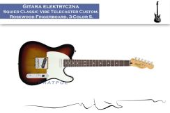 Squier Classic Vibe Telecaster Custom Rosewood Fingerboard 3-Color Sunburst - zdjęcie 1