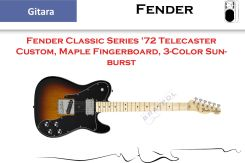 Fender Classic Series '72 Telecaster Custom Maple Fingerboard 3-Color Sunburst