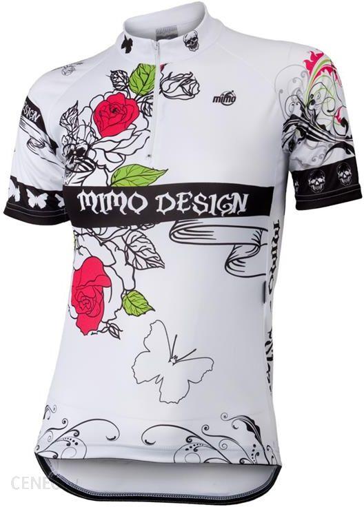MIMO DESIGN - ROSES - damska koszulka rowerowa, kolor: Biały - Ceny i  opinie - Ceneo pl