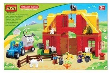 Klocki Gazelo Toys Klocki Jixin Wesoła Farma 72el G045389 Ceny I