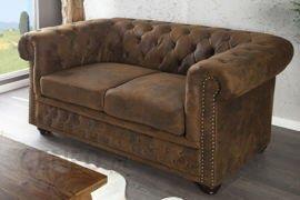 Homelike Klasyczna, dwuuosobowa sofa pokryta pikowaną skórą ekologiczną (i17109)