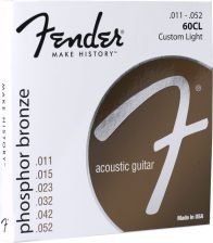 Fender Phosphor Bronze Acoustic Guitar Strings 11-50