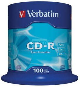 Verbatim CD-R 700MB 52x Cake 100szt ExTRA PROTECTION (43411)