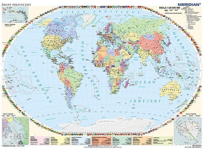 Mapa Polityczna 1 35 000 000 Swiat Ceny I Opinie Ceneo Pl