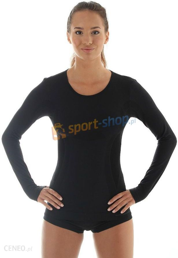 0ab0ad06d91545 Koszulka damska z długim rękawem Comfort Wool Brubeck (czarna) - zdjęcie 1