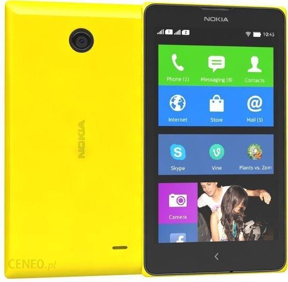 Nokia X Dual Sim Zolty Cena Opinie Na Ceneo Pl