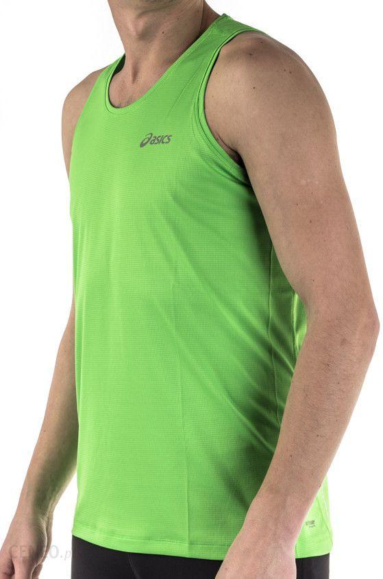 Koszulka bez rękawów biegowa męska Singlet Asics