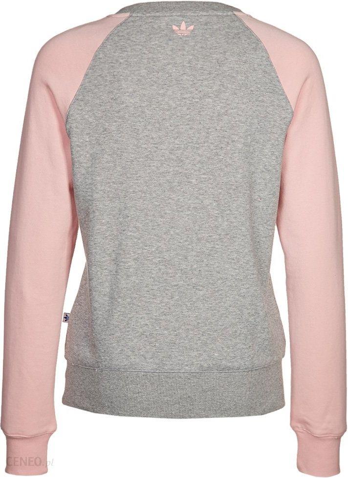 Bluza Adidas originals fun różowa szara