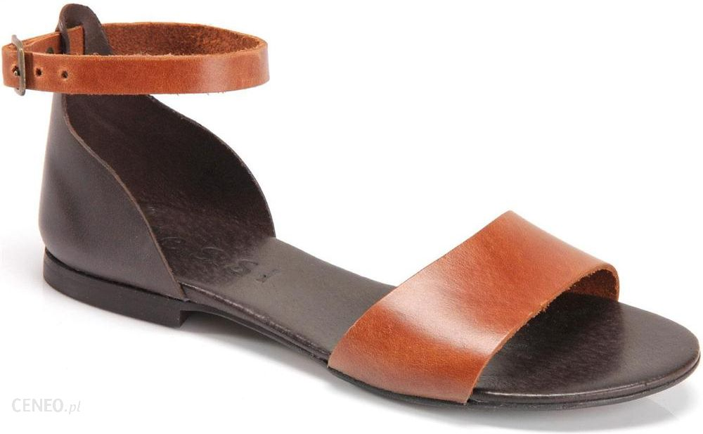 ecco sandały koniak