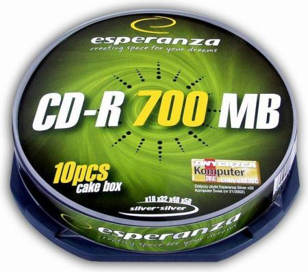 Esperanza CD-R 700MB 52x Jewel Case 10szt (2006)